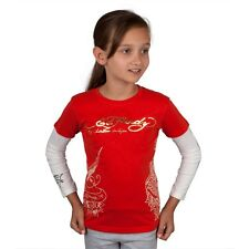 Ed Hardy - Side Koi Fish Stencil Girls Juvy 2fer Long Sleeve