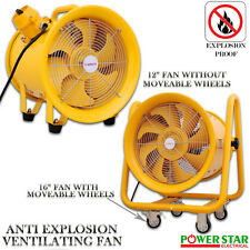 Atex Portable Ventilator Axial Fan Ducting Blower Metal Extractor Industrial