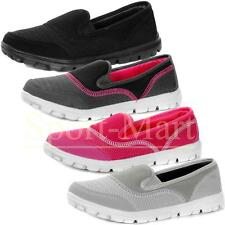 Womens Air Tech Go Walk Slip On Comfort Shoes Ladies Loafer Trainers Pumps Size