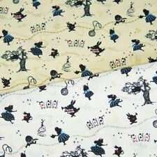 Alice In Wonderland Cheshire Cat Queen Of Hearts 100% Japanese Cotton Fabric