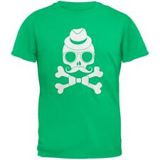 Hipster Skull And Crossbones Green Youth T-Shirt