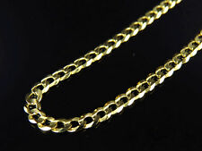 "Real 10K Yellow Gold Solid Plain Cuban Link Style Chain Necklace 18-24"" (3.0MM)"