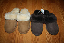 Womens COZY MATE Australian Wool Shearling Sheepskin EVA Sole Slippers 7 8