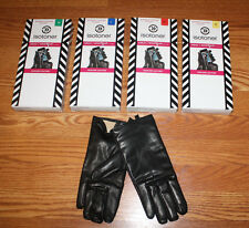NWT Womens ISOTONER Black Leather SmarTouch Technology Dress Gloves S M L XL