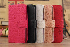 5 Colors Magic Lucky Girls Wallet Pouch Flip PU Leather Case for Verious Phones