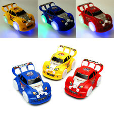 Cool Electric Racing Car Universal Automatic Steering Flashing Music Toy 3-Color
