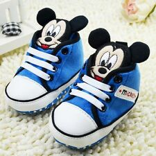Toddler baby boy girl shallow blue crib shoes Sports shoes size0-6-12-18 mth