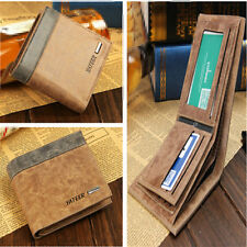 Men's Stylish Cool Leather Bifold Wallet Credit Card Holder Clutch Pockets Purse