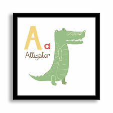 Why Not Me CZ's 'A is for Alligator' Framed Paper Art