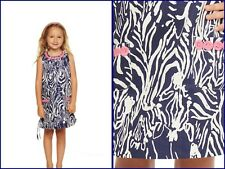 LITTLE LILLY PULITZER CLASSIC SHIFT DRESS SIZE 5,7 BRIGHT NAVY ENTOURAGE  NWT