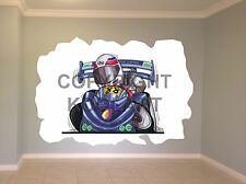 Huge Koolart Cartoon Go Cart Go Cart Wall Sticker Poster Mural 297