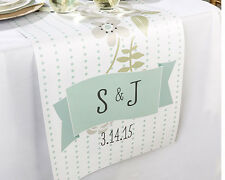Personalized Rustic Table Runner Bridal Shower Wedding Reception Decoration