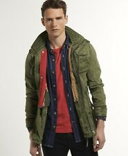 New Mens Superdry Flag Jacket Army Green