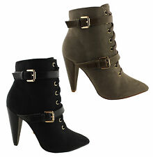 KARDASHIAN KOLLECTION PETRA WOMENS PREMIUM FASHION ANKLE BOOTS/HEELS/SHOES