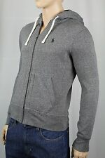 Polo Ralph Lauren Grey Hoodie Full Zip Sweatshirt Green Pony NWT