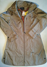 NWT Cole Haan Women Packable Lightweight Hooded Jacket Rain Coat LARGE