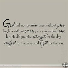 God Did Not Promise Days Without Pain Inspirational Wall Decals Quotes Sayings