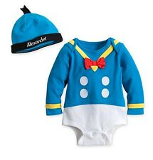 Disney Store Donald Duck Costume Outfit Baby Size 0-3 3-6 6-9 12-18 18-24 Months