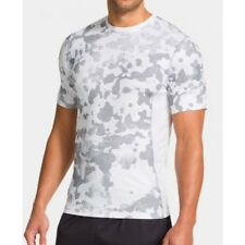 NWT MN UNDER ARMOUR 1244424 -101 SS SONIC FITTED TOP SELECT SIZE $30 CAMO WHITE