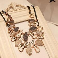 Fashion Women's Charm Chunky Chain Choker Bib Statement Collar Pendant Necklace