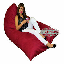 Bean Bag Chair Premium Cozy Foam Filled Cozy Lounger large Cinnabar