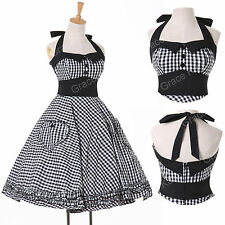 Swing VINTAGE ❤40's 50's ❤ Housewife Rockabilly Pinup Party Prom Dress PLUS SIZE