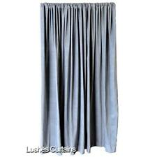 Solid Gray Cotton Velvet Curtain 15ft High Panel Custom Made Theatre Stage Drape