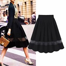 Korea Fashion Women Summer Chiffon Pleated Maxi Dress Elastic Waist Short Skirt
