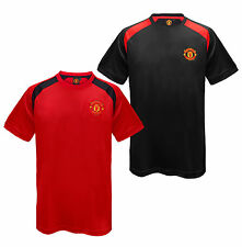 Manchester United FC Official Football Gift Mens Poly Training Kit T-Shirt
