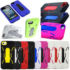 Kickstand Hard Cover Silicone Case For Apple iPhone 5 5S SE