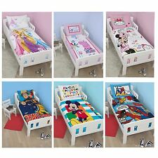 CHARACTER & DISNEY JUNIOR TODDLER BED DUVET COVER SETS BEDDING