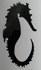 Seahorse Silhouette Logo Vinyl Decal Sticker Choose your Color and Size