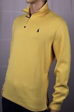 Polo Ralph Lauren Yellow 1/2 Half Zip Sweater Green Pony NWT