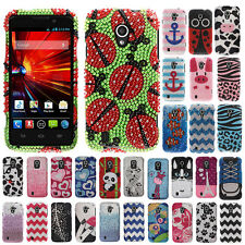 For ZTE Source N9511 Z796C Majesty Moo Moo Cow Bling Hard Case Cover Accessory