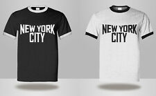 New Mens or Womens New York City RINGER T-Shirt Retro John Lennon Classic Tee