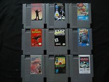 NES Nintendo Games - You Choose - Tested #2  Bart, Black Manta, Rad Racer, Robin