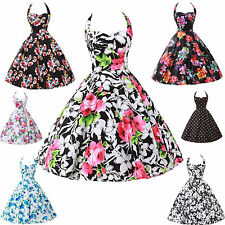 FAST LAS SHIP!!VICTORIAN VINTAGE STYLE HOUSEWIFE ROCKABILLY PINUP JIVE DOT DRESS