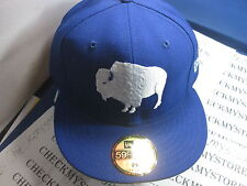 NEW BUFFALO BILLS  AUTHENTIC NFL NEW ERA 59FIFTY HAT CAP 100%  WOOL MADE- IN USA