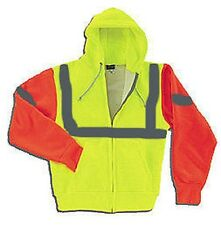 Mens Thermal Hi-Vis Extra Hwt Zip Hood Sweatshirt  Refl