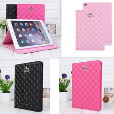 Luxury Leather Smart Sleep/Wake Folio Stand Case Cover for Apple iPad Air 2 Mini