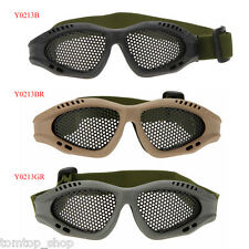 Lightweight Airsoft Tactical Metal Mesh Eyes Protection Goggle Glasses paintball