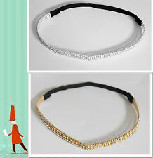 pretty Girls' Rhinestone Crystal Headband Elastic Stretch Hair Band Hair band