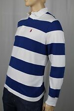 Polo Ralph Lauren Blue White Custom Fit Long Sleeve Rugby NWT