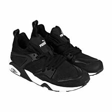 Puma Mens Trinomic Blaze Tech Black  Textile Lace Up Sneakers Shoes