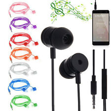 New 3.5mm In-Ear Earbuds Earphone Headset Headphone Mic For Mobile Cell Phone