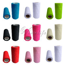 """New Lace Roll Fabric Tulle Spool 6""""x10Y Chair Sash Bow Table Runner Stair Decor"""