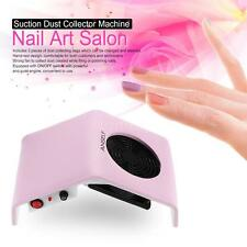 NAIL ART DRILL DUST SUCTION COLLECTOR MANICURE MACHINE FILING UV GEL TIP CLEANER