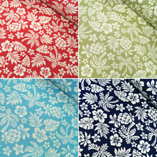 Tropical Paradise Funky Floral Flowers Silhouettes 100% Cotton Poplin Fabric