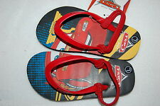 Toddler Boys SHOES Disney Cars FLIP FLOPS Ankle Strap McQueen S 5-6 M 7-8 L 9-10