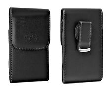 Cell Phone Leather Carrying Case Cover Side Pouch Holster with Swivel Clip